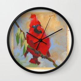 cardinal #1 Wall Clock