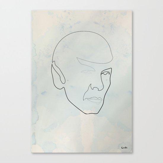 One line Spock Canvas Print
