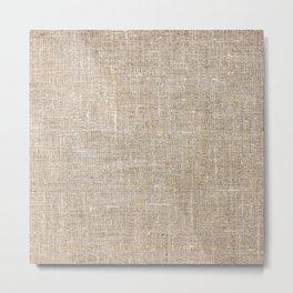 Len Sack Fabric Texture Metal Print