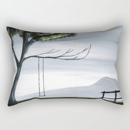 The Girl Without a Reflection Part 4 Rectangular Pillow