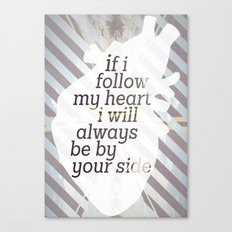 Following Heart Canvas Print