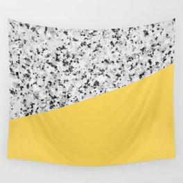 Granite and Primrose Yellow Color Wall Tapestry