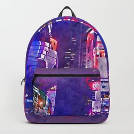 New York City Lights in Watercolor Backpack