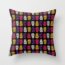 Inked Sugar Skulls Throw Pillow