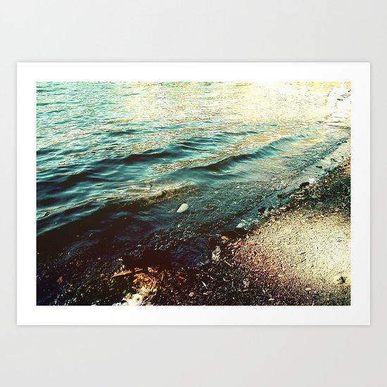 Beach Waters Art Print