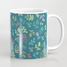 Ditsy Flowers in teal Mug