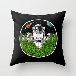 Stoner Astronaut Throw Pillow