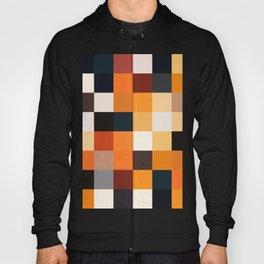Geometric Pixel Squares - Black and Brown  Hoody