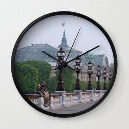 Paris Pont d'Alexandre Bridge Wall Clock