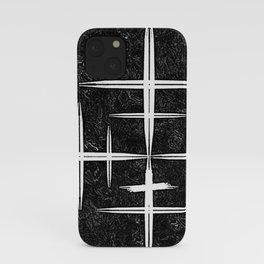 Black and White Hop Scotch Cris Cross iPhone Case