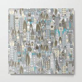 aluminium city Metal Print