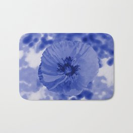 Blue poppy Bath Mat