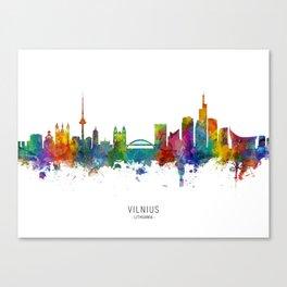 Vilnius Lithuania Skyline Canvas Print