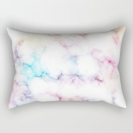 Rainbow Marble Pattern Rectangular Pillow