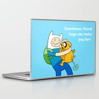 finn and jake Laptop & iPad Skins featuring Finn and Jake Fart  by Richtoon