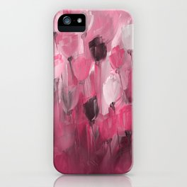 Rose Garden in Shades of Peachy Pink iPhone Case