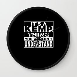 KEMP Surname Personalized Gift Wall Clock