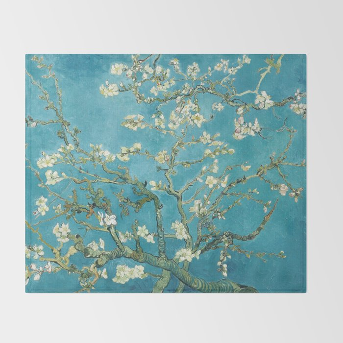 Almond Blossoms by Vincent van Gogh Throw Blanket