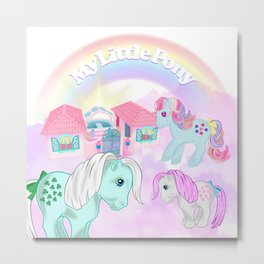 vintage g1 my little pony tribute collage Metal Print