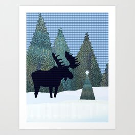 A Quiet Moose Moment Art Print