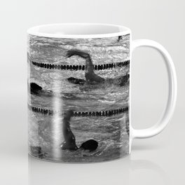 The swimmers in black and white Coffee Mug