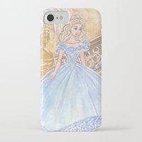 cinderella iPhone & iPod Cases featuring Cinderella by carotoki