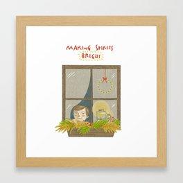 Making Spirits Bright Framed Art Print