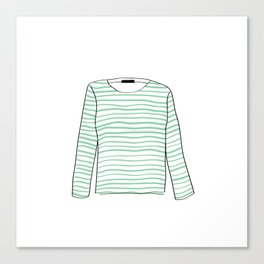 Sailor Tee - Mint Canvas Print