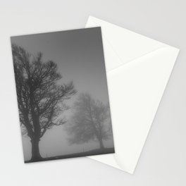 Morning Mist Trees - Landscape Photography Stationery Cards