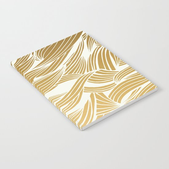 Gold & White Pattern Notebook