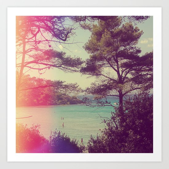 French Beach Art Print