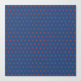 Blue Strawberry Field Canvas Print