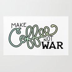 Coffee Not War (Seaside) Rug