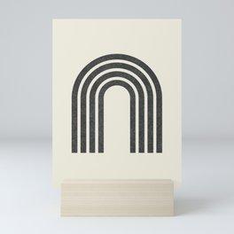 Woodblock arch Mini Art Print