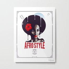 Afro Style III Metal Print