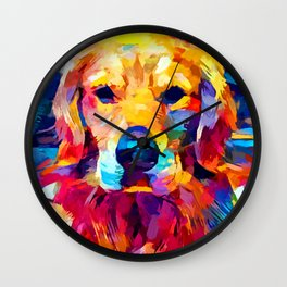 Golden Retriever 6 Wall Clock