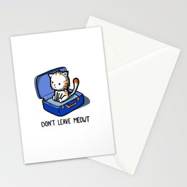 Don't Leave Meowt Stationery Cards