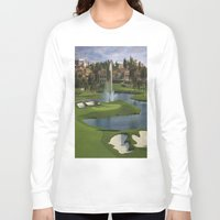 golf Long Sleeve T-shirts featuring GOLF COURSE by aztosaha