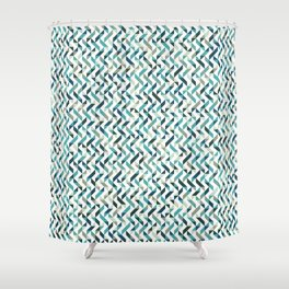 Natural Blue Pattern Shower Curtain