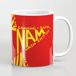 Gold Star Over Vietnam Coffee Mug