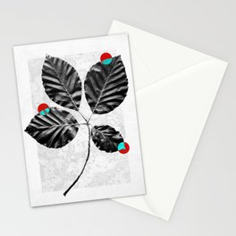 Abstract Flowers 4 Stationery Cards
