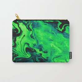 Black and Green Marble Painting Carry-All Pouch