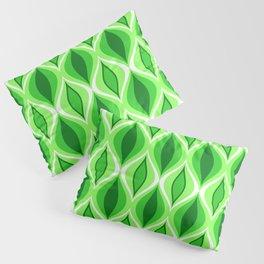 Mid-Century Modern Diamonds, Emerald & Lime Green Pillow Sham