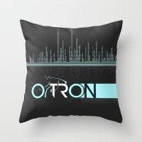 tron Throw Pillows featuring Tron Minimalist by Ed Burczyk
