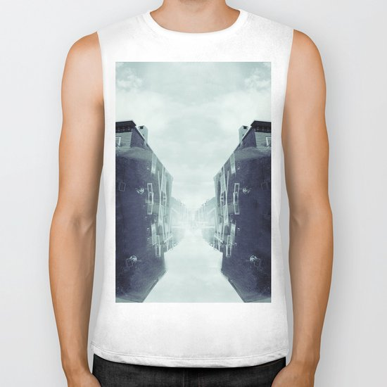 city in the sky Biker Tank