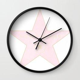 Audrey Hepburn Hollywood walk of fame Wall Clock