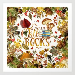 Fall Into Books Art Print
