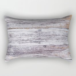Rustic distressed western country old barn beige light grey woodgrain Rectangular Pillow