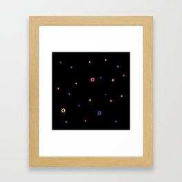 Multicolor dot Framed Art Print