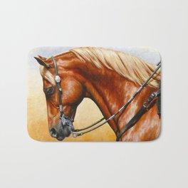 Western Sorrel Quarter Horse Bath Mat